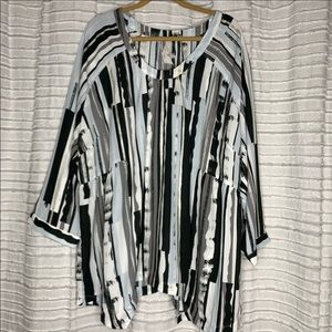 Melissa McCarthy Seven7 Blouse Top Shirt 3X